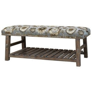 CRESTVIEW COLLECTIONSHillcrest Rustic Frame & Pattern Bench