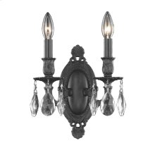 8202 Rosalia Collection Wall Sconce Dark Bronze Finish