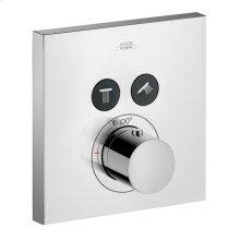 Chrome ShowerSelect Square Thermostatic 2-Function Trim