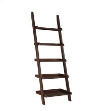 Transitional Dark Walnut Ladder Bookcase