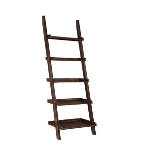 CoasterTransitional Dark Walnut Ladder Bookcase