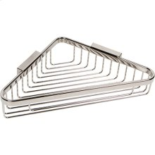 "Polished Nickel 9"" Deep Corner Basket"
