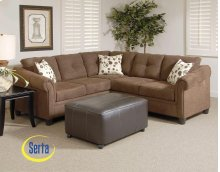 Sienna Chocolate Sectional - Left Facing