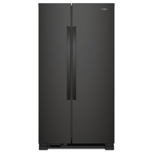 33-inch Wide Side-by-Side Refrigerator - 22 cu. ft. - BLACK