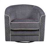 Emerald Home Roe Swivel Chair-charcoal W/ Tan Welts U3504-04-03