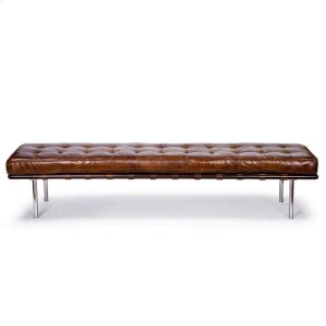 Regina AndrewTufted Gallery Bench In Vintage Leather