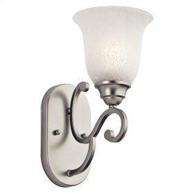 Camerena 1 Light Wall Sconce Brushed Nickel