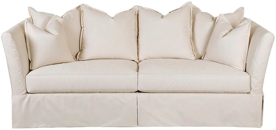 Gentil Two Cushion Sofas, Slipcover