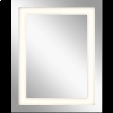 LED Mirror - Model 83994 Mirror with 3-Inch Etched Glass Window