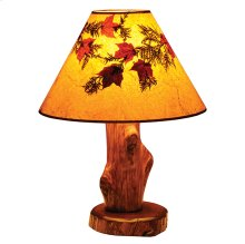 Table Lamp With Lamp Shade, Vintage Cedar