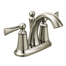 Wynford polished nickel two-handle bathroom faucet