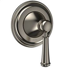 Vivian Two-Way Diverter Trim with Off - Lever Handle - Brushed Nickel