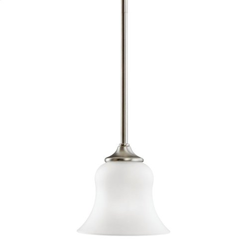 Wedgeport 1 Light Mini Pendant with LED Bulbs Brushed Nickel