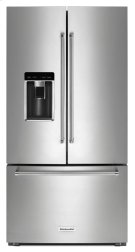"23.8 cu. ft. 36"" Counter-Depth French Door Platinum Interior Refrigerator with PrintShield Finish - Stainless Steel with PrintShield™ Finish Product Image"