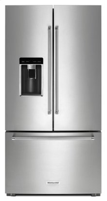 "23.8 cu. ft. 36"" Counter-Depth French Door Platinum Interior Refrigerator with PrintShield Finish - Stainless Steel with PrintShield™ Finish"