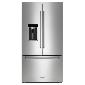 "KitchenAid23.8 cu. ft. 36"" Counter-Depth French Door Platinum Interior Refrigerator with PrintShield Finish - Stainless Steel with PrintShield™ Finish"