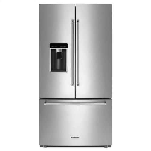 "23.8 cu. ft. 36"" Counter-Depth French Door Platinum Interior Refrigerator with PrintShield Finish - Stainless Steel with PrintShield™ Finish"