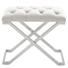 Aldo Single Bench in Ivory and Silver