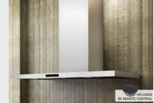 "36"" Duo Designer Wall Hood with Optional Wood Trim"