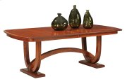 Double Pedestal Table With 4-Leaves Product Image
