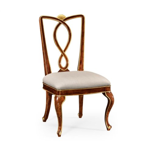 Antique Mahogany Brown Dining Side Chair
