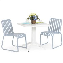 0100 Series 3PC Dining Set Smoke Blue