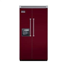 "Burgundy 42"" Side-by-Side Refrigerator/Freezer with Dispenser - VISB (Integrated Installation)"