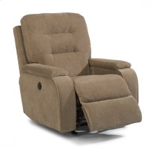 Kerrie Fabric Power Rocking Recliner