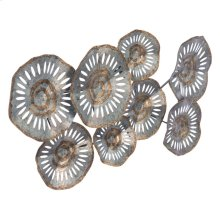 Zinc Flowers Wall Decor Multicolor