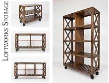 """Loftworks 36"""" Trolley Cart"""