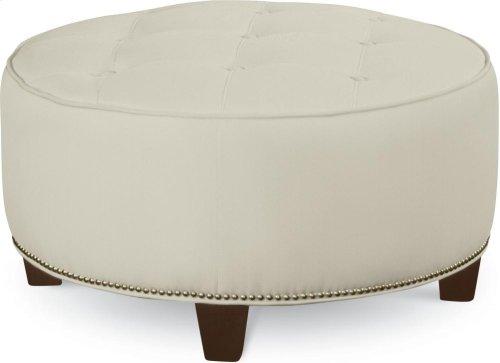 Brooklyn Round Button Top Ottoman (No Nails)