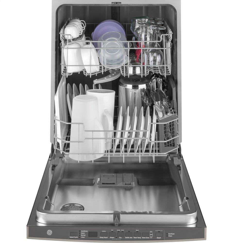 Ge Reg Hybrid Stainless Steel Interior Dishwasher With Hidden Controls