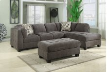 Emerald Home Trinton 2pc Sectional Grey W/2 Accent Pillows U8030a-13-k