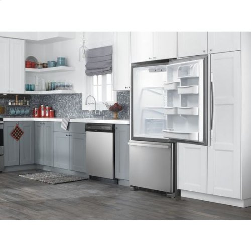 RED HOT BUY! 29-inch Wide Bottom-Freezer Refrigerator with EasyFreezer™ Pull-Out Drawer -- 18 cu. ft. Capacity - stainless steel