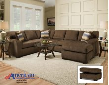 5250 - Perth Chocolate Sectional