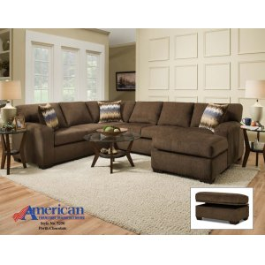 American Furniture Manufacturing5250 - Perth Chocolate Sectional