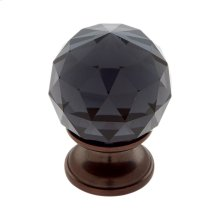 Old World Bronze 30 mm Round Faceted Knob