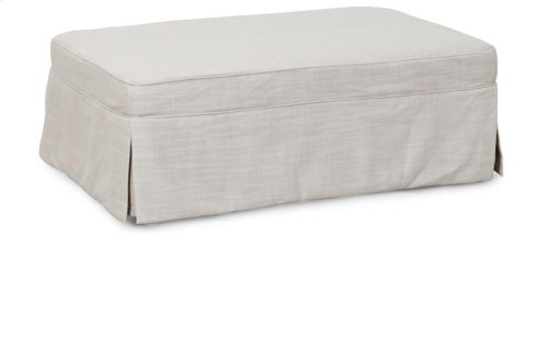 Sunset Trading Slipcovered Sleeper Ottoman in Linen - Sunset Trading