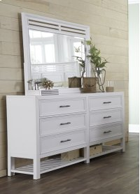 Drawer Dresser - Tuxedo White Finish Product Image