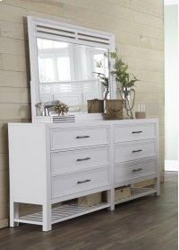 Mirror - Tuxedo White Finish Product Image