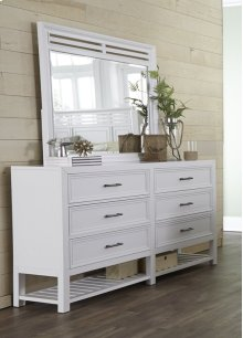 Drawer Dresser - Tuxedo White Finish