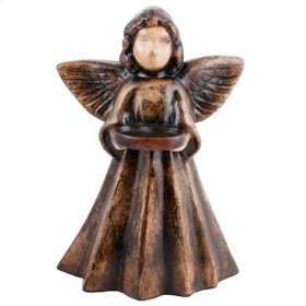 Natural Brown Angel w/ Plate