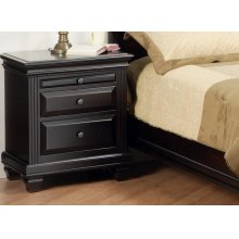 Florentino 2/Dwr Night Stand W/Pullout Shelf