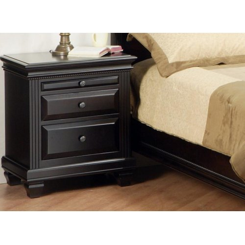 Florentino 2/Dwr Night Stand W/Pullout Shelf w/Power Management