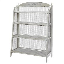 Lydia Pale Grey and Chicken Wire Bookshelf