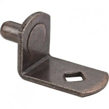"""Antique Copper 5 mm Pin Angled Shelf Support with 3/4"""" Arm and Diamond Hole"""
