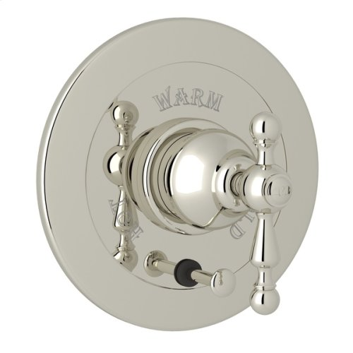 Polished Nickel Arcana Integrated Volume Control Pressure Balance Trim With Diverter with Arcana Series Only Ornate Metal Lever