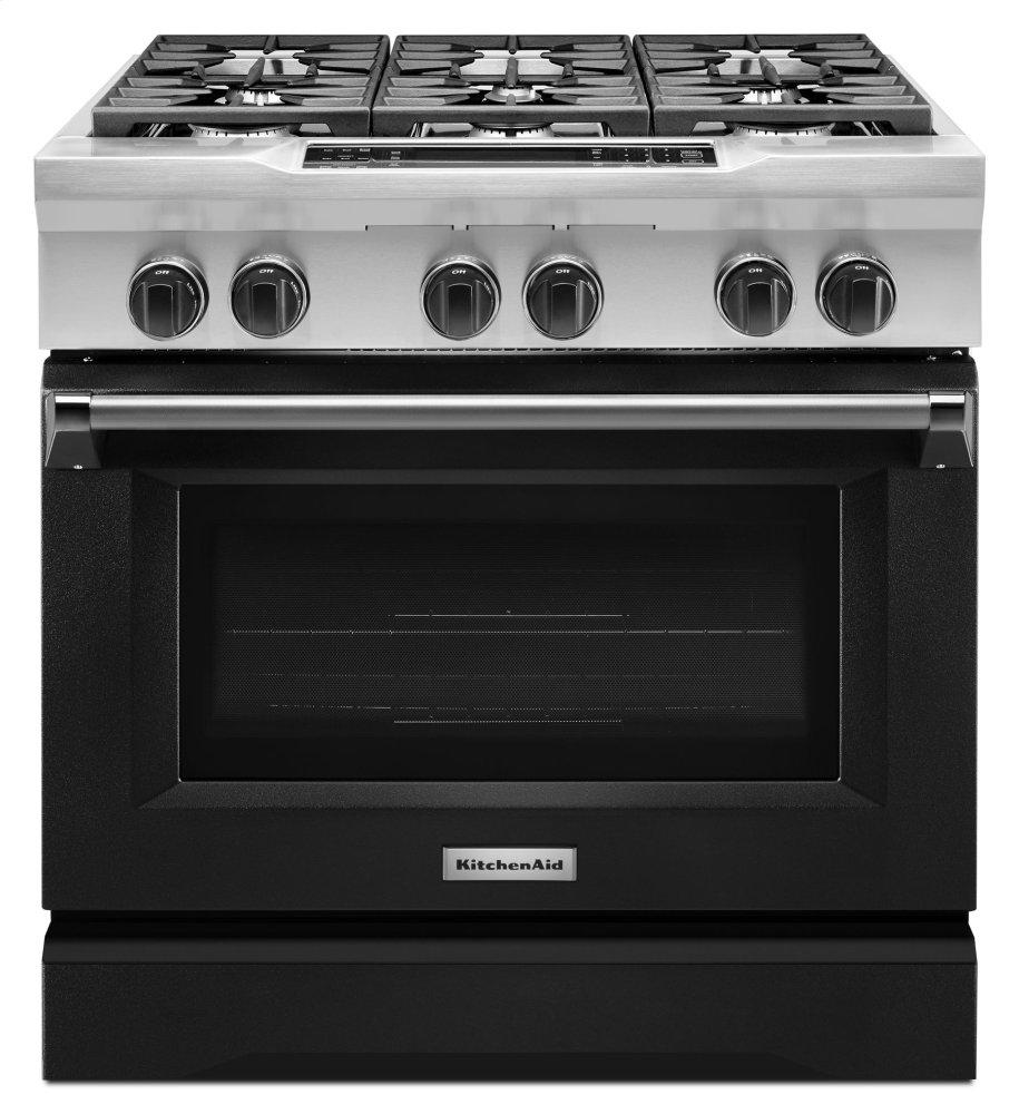 Charmant Kitchenaid 36u0027u0027 6 Burner Dual Fuel Freestanding Range, Commercial Style    Imperial Black