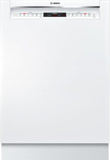 """800 Series 24"""" Recessed Handle Dishwasher 800 Series- White SHE878WD2N"""