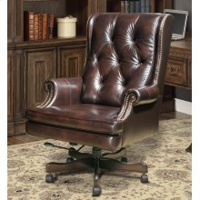DC#112 Havana Leather Desk Chair